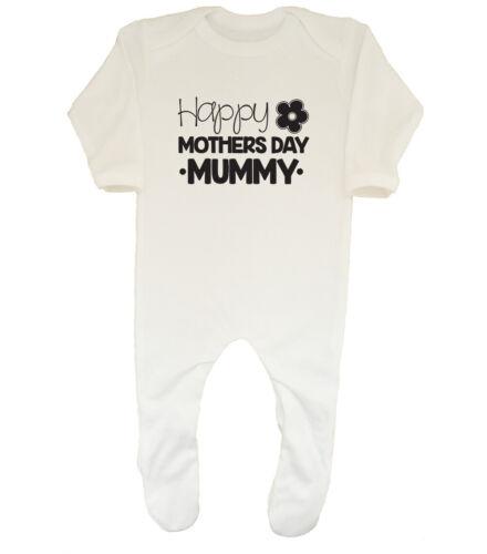 Happy Mothers Day Mummy Boys Girls Baby Sleepsuit Romper