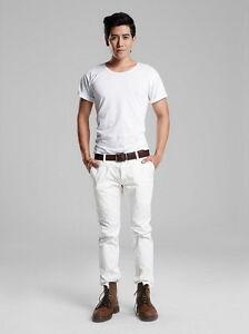 Double-Goose-Plain-t-shirt-Short-Sleeve-Men-Classic-Style-Cotton-Soft-Comfort