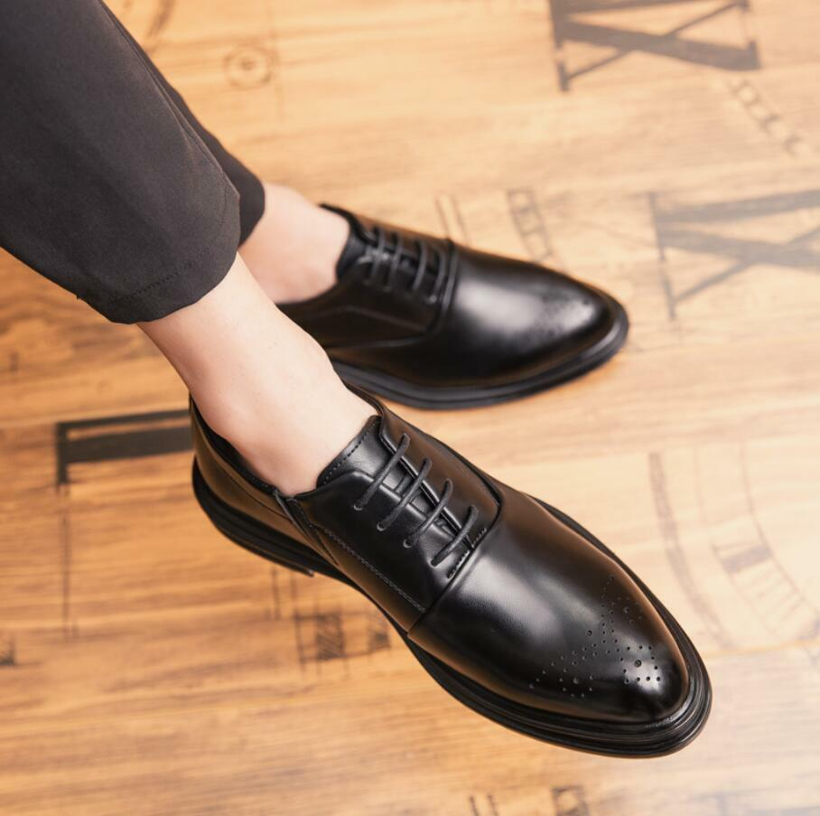 Fashion Mens Casual Business Oxfords shoes Dress Formal Leather Brogue shoes New