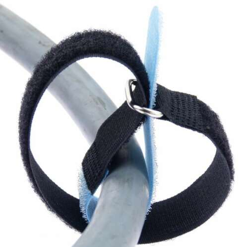 20x Kabelklett Klettband 300 x 25 mm hell blau Öse Klett Kabelbinder Klettbänder