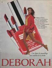 Publicité Advertising  DEBORAH  une ligne de maquillage