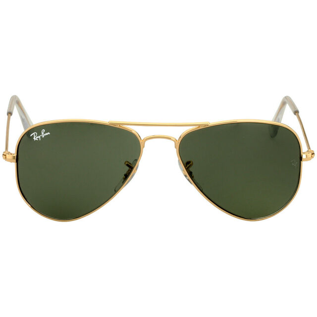 002351e0a79 Ray-Ban Aviator Small Metal Frame Green Lens Unisex Sunglasses RB3044