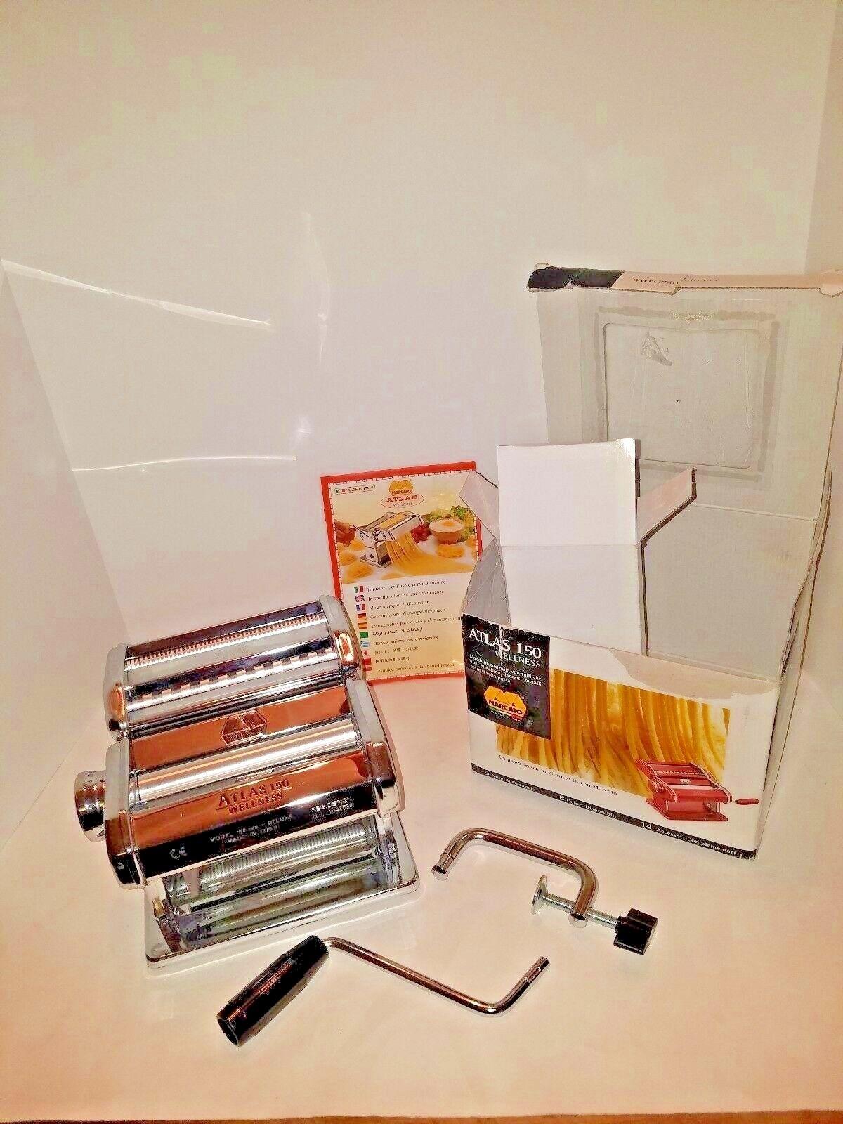 Marcato Atlas Wellness 150 Pasta Maker Roller Cutter en acier inoxydable Free Ship