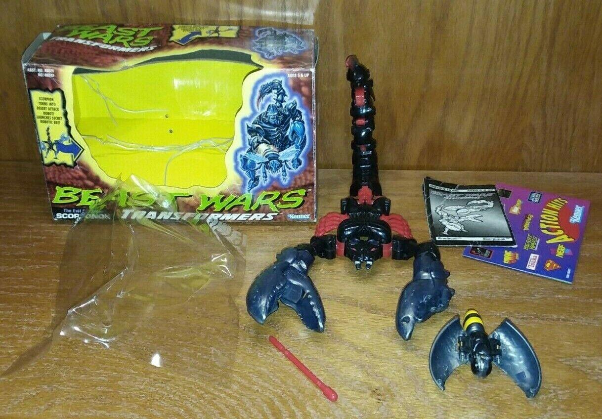 Beast Wars G1 Scorponok Mega Class Transformers 1996 Kenner near complete VG