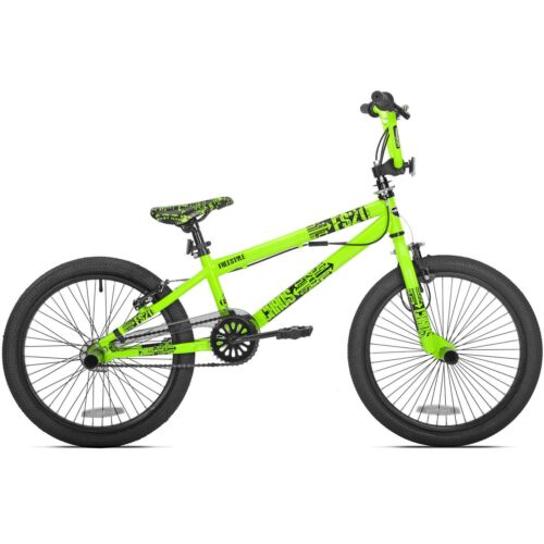 "20/"" Green Boys Mens Free Style Wheel BMX Trick Bike Brakes Gyro Detangler Pegs"