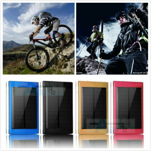 New Solar Power Bank 600000mah External Battery Charger For IPhone LG Samsung