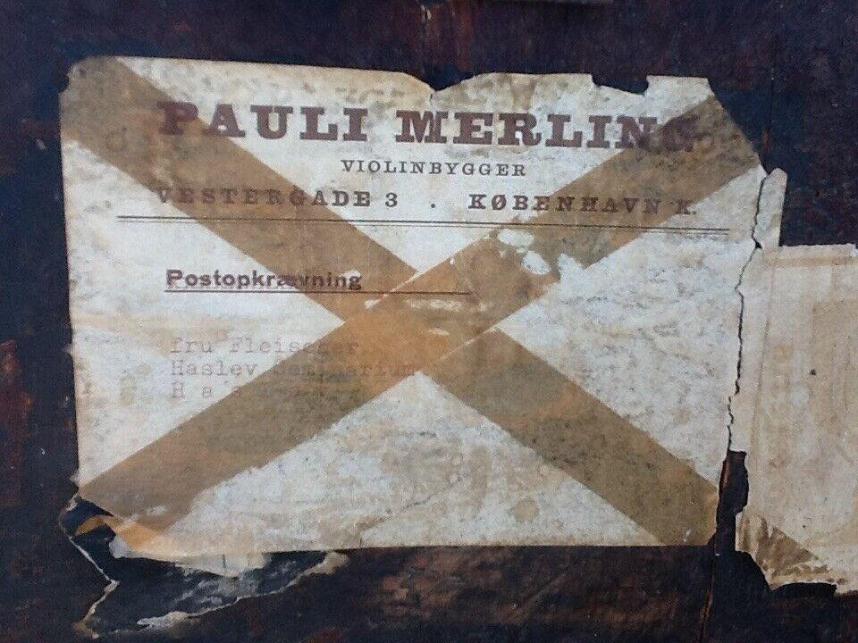"Retro Cello- eller Violinkasse "" Pauli Merlin "" ,"
