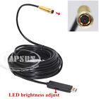 10 Meter USB Endoscope Camera Borescope Inspection Snake LED Light Waterproof AU