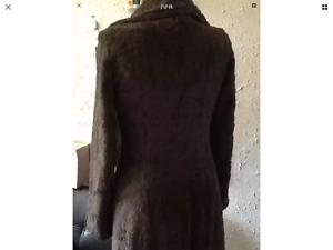 Women's full length Faux fur coat mink colour size 10 coast