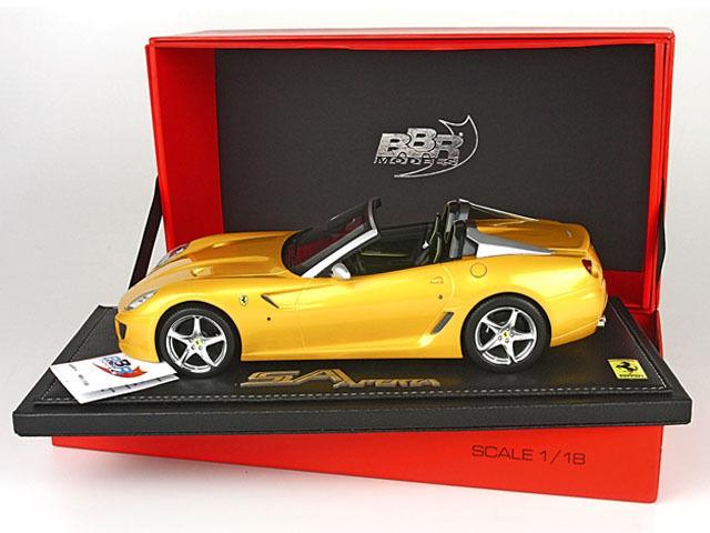 1:18 BBR Ferrari 599 Super America America America SA Aperta 2010 Giallo Tristato UNIQUE ON EBAY aa464b