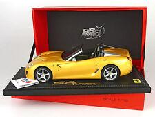 1:18 BBR Ferrari 599 Super America SA Aperta 2010 Giallo Tristato UNIQUE ON EBAY