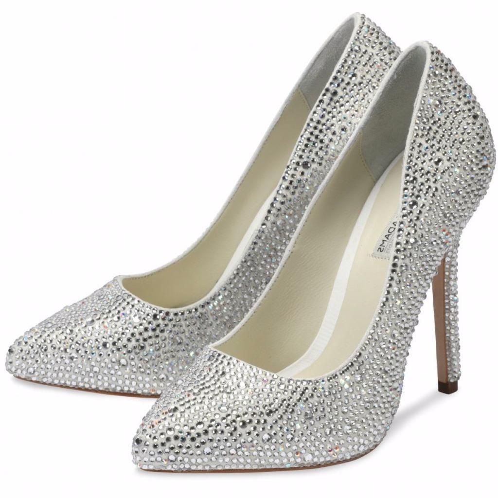 Benjamin Adams Sylvia Crystal Heels Heels Heels Wedding Bridal Sandals UK8  EU41 NEw 364966