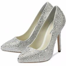 Benjamin Adams Sylvia Crystal Heels Wedding Bridal Sandals UK7 EU40