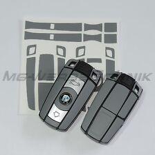 1B_Schlüssel-Dekor Aufkleber für BMW 1er 3er 5er 6er 7er Z4 X1 X5 X6 M grau matt