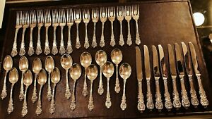 Wallace Sir Christopher 925 Sterling Silber 40 Stück Bestecke Set