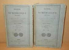 MANUEL DE NUMISMATIQUE ANCIENNE MICHEL HENNIN 2 VOLUMES 1830 MONNAIES MONNAIE