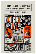 Brit Rock: Dave Clark Five & The Kinks & The Hollies City Hall UK Poster 1964