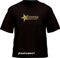 Rockstar Black T-shirt Heavyweight 100% Cotton (xl) Pre-shrunk