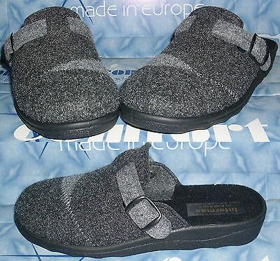 Hausschuhe robuste Pantoffeln leichte Puschen Patchwork Schnalle Filz 36-40