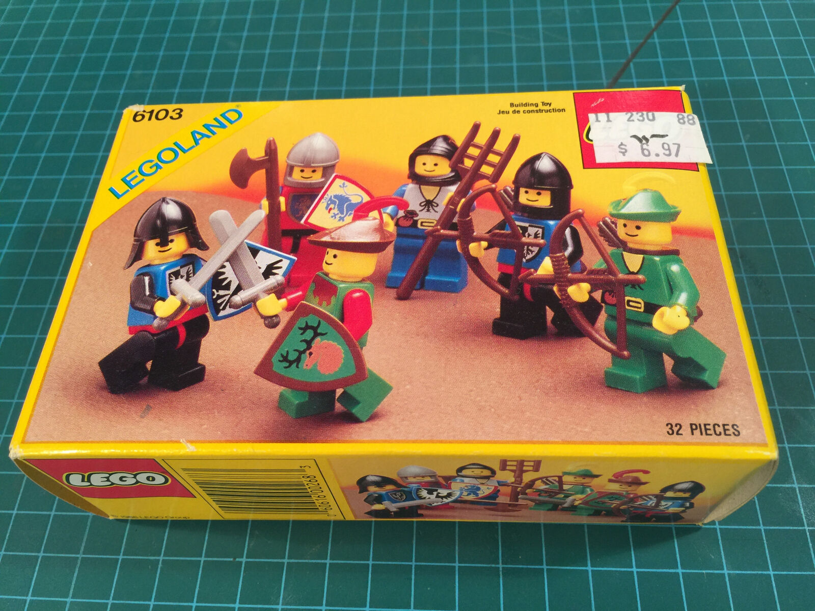 Lego 6103 Castle Knights Minifigures LEGOLAND Knights 1988 MINT UNOPENED UNOPENED MINT 929e98