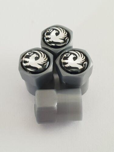 VAUXHALL GREY PLASTIC Valve Alloy wheel dust Caps All models NonStick ASTRA ADAM