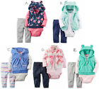 NWT Carter's Baby Girl Outfit Vest Set Clothes Newborn 3 6 9 12 18 24 Month New