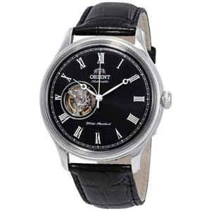 Orient-Open-Heart-Automatic-Black-Dial-Men-039-s-Watch-FAG00003B0