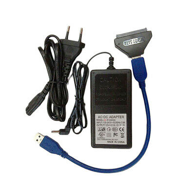 USB 3 To SATA 22Pin Adapter Converter For 2.5 3.5inch Hard Disk EU Plug Special