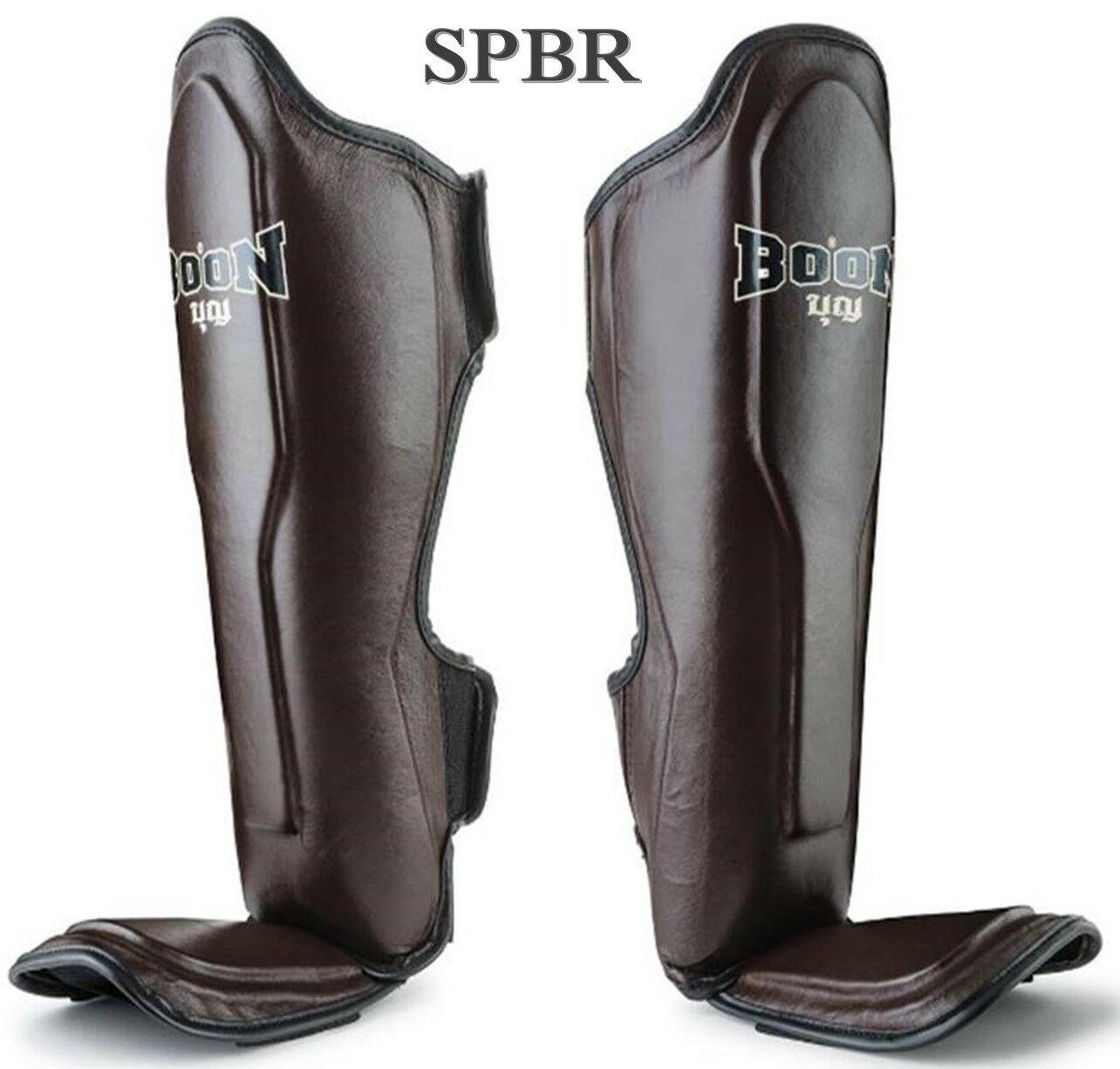 BOON SHIN GUARDS PAD SPBR  BROWN  M L XL MUAY THAI MMA TRAINING SPARRING