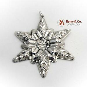 gorham sterling silver snowflake christmas ornament ebay