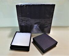 Jewelry Gift Boxes 36 Count Black Matte Cotton Filled 35 X 35 X 1