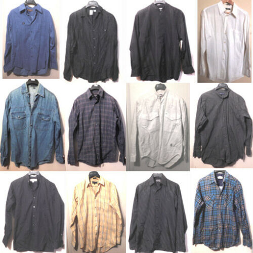 Men's Long Sleeve Shirts, Button Down Lot of 12