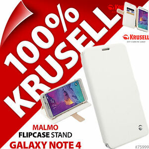 Krusell-Malmo-A-Clapet-Support-Coque-For-Samsung-Galaxy-Note-4-Couvercle-Noir