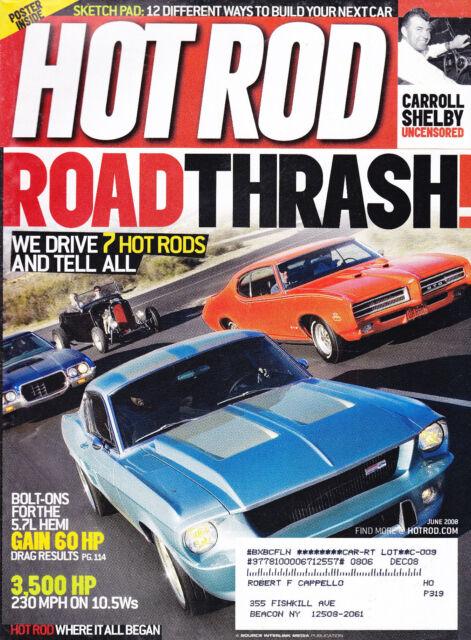 SHIPPED IN A BOX - Hot Rod Magazine June 2008 Carroll Shelby
