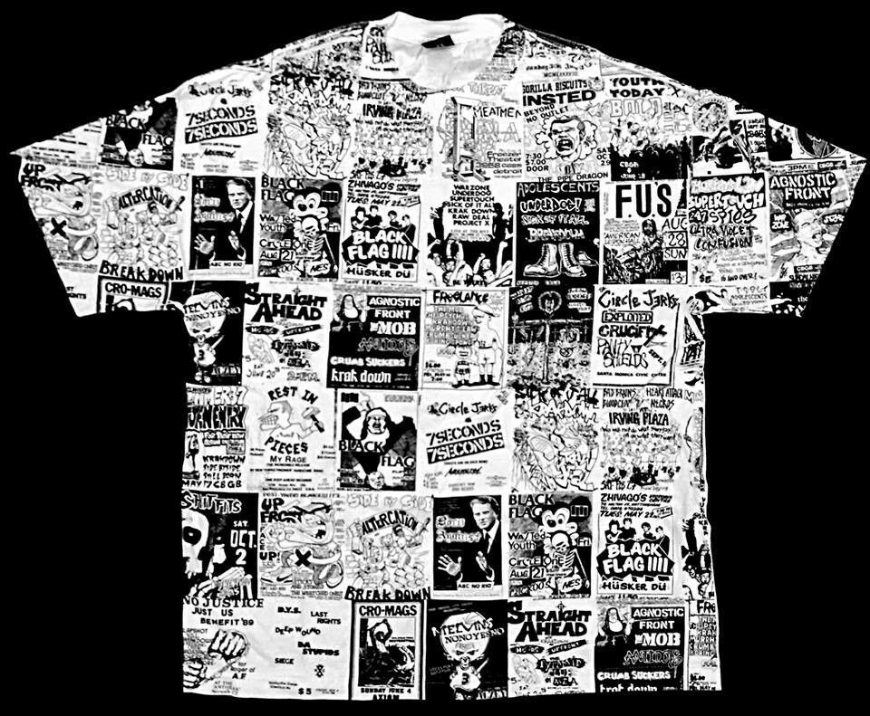 PUNK FLYERS MEATMEN CRO-MAGS SHIRT MINOR THREAT ANTIDOTE AGNOSTIC FRONT N.Y.H.C.