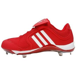 aaf273294ef6 Men's Adidas Excelsior Low Metal Baseball Cleats Spikes Red White ...