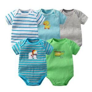 5Pcs-Newborn-Infant-Kids-Baby-Boy-Girl-Romper-Bodysuit-Jumpsuit-Clothes-kWz-eh