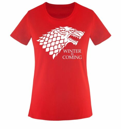Deluxe Winter is Coming Comedy Shirts Damen T-ShirtMode Trend Inn