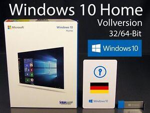 microsoft windows 10 home vollversion box usb stick 3 0 32 64 bit de ovp neu ebay. Black Bedroom Furniture Sets. Home Design Ideas