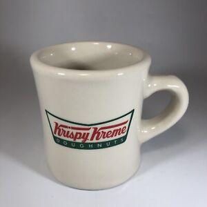 Krispy Kreme Logo Diner Style Mug - Donuts - Heavy Stoneware - Cream 8 Oz.