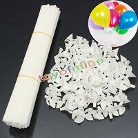 100pcs Plastic Balloon Holder Sticks & Cups Tray Party Wedding Decor Appliance
