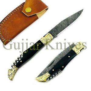 Laguiole-Damaststahl-Klappmesser-Taschenmesser-Skinner-Messer-GUJ-132