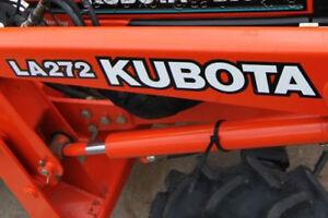 SET OF 2 KUBOTA TRACTOR VINYL DECAL STICKER RED