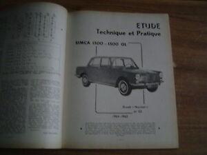 Revue Technique Rta Simca 1500 - 1500 Gl 1964 - 1965 Berline Et Break Ck4qzh0q-08012228-544111058
