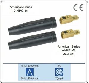 Welding Cable Ground # 2 25FT /& Tweco Compatible EG 200 Cable Lug 2-MPC Male