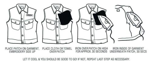 LARGE REFLECTIVE SKULL Biker back Patch Sew Iron on Vest cut bikie