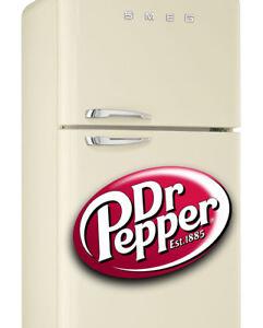 Dr Pepper no.1 Fridge Wrap  Fridge Freezer Sticker Sizes Fit Your Fridge Smeg