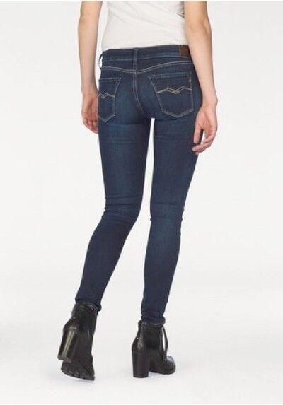 REPLAY Luz wx689y JEANS NUOVO used Skinny Fit Donna Pantaloni Stretch Denim w30-l32 l32