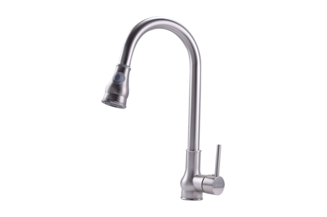 Kitchen Sink Faucet Kf 80001 Single Handle Pull Down Arc Swivel