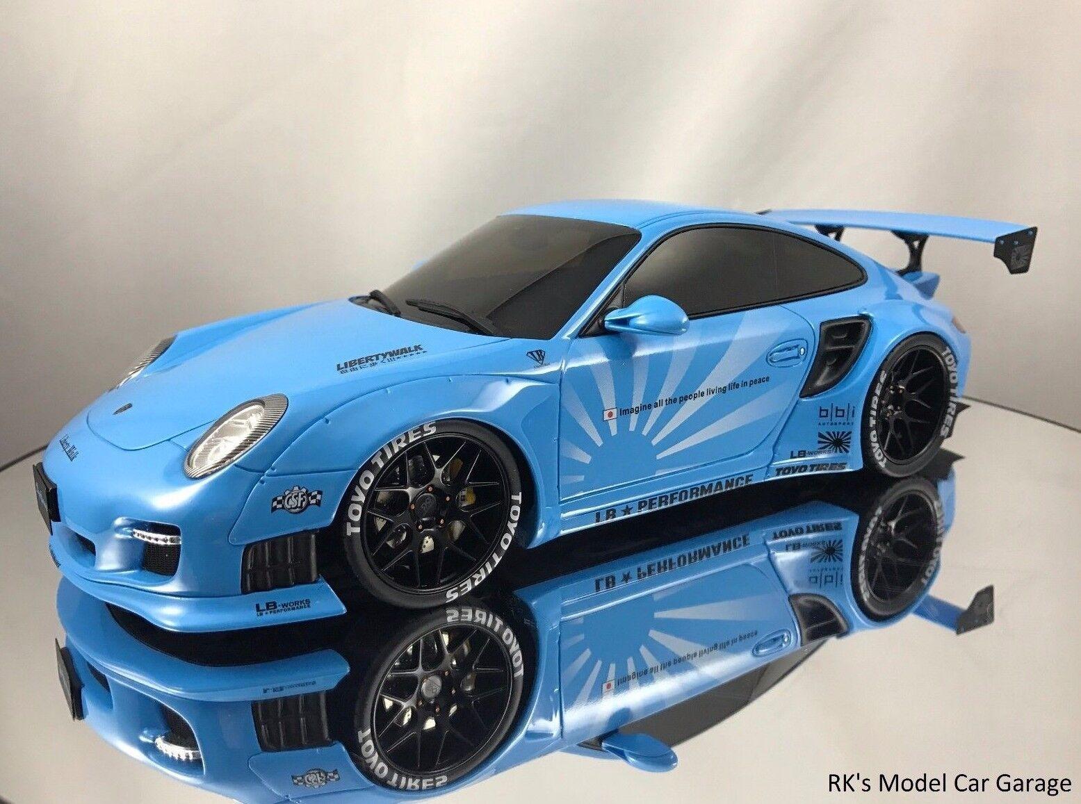 GT Spirit LB Performance Porsche 911 (997) Turbo Liberty Walk Blau 1 18
